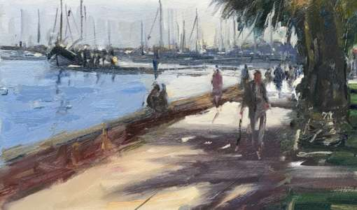 Painting in Olhao in the Algarve