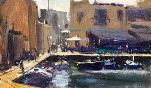Oil Painting in Olhao in the Algarve