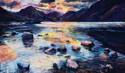 Expressive mixed media in The Lake District