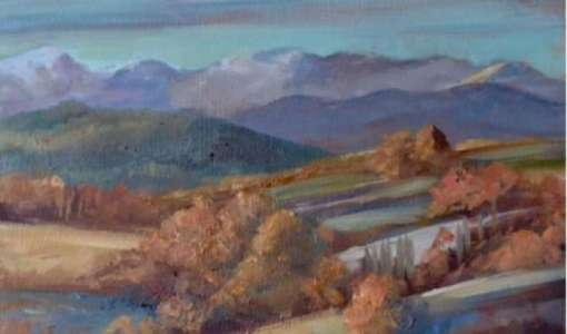 Painting the Kalymnian Scenery with Podi Lawrence