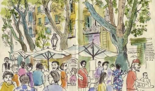 A sketchbook and linocut journey - sketching workshop