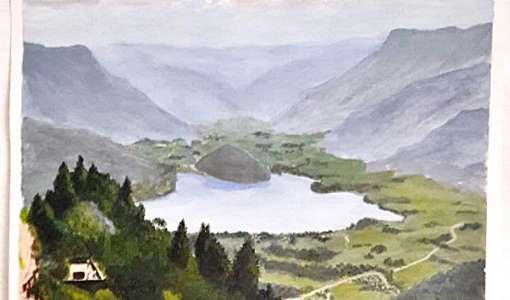 Painting Holiday in the Austrian Alpine Lake District