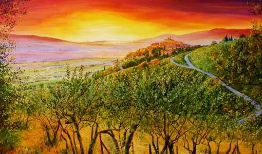 Plein air painting holiday at Castello di Petroia