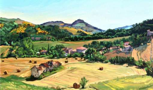 Painting and Drawing Ancient Hill Towns