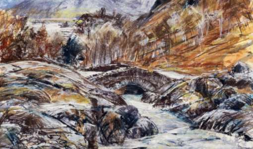 Lake District Expressive Pastel and Drawing Art Holiday