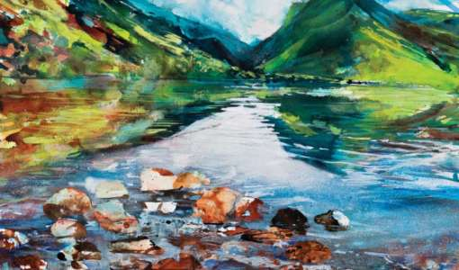 Mixed Media Expressive Painting Holiday in The Lake District