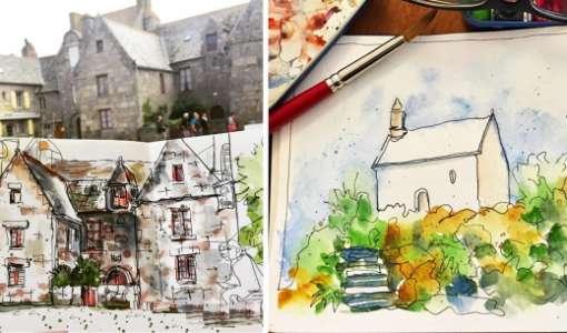 Travel Sketching Workshop in Brittany, France