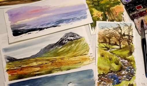 Sketch Islay painting workshop