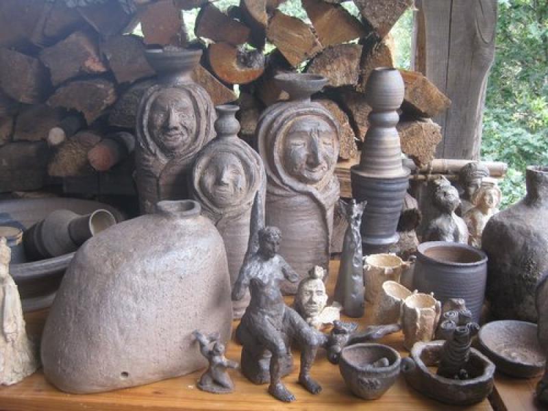 A universe - ceramics sculpture and wood firing
