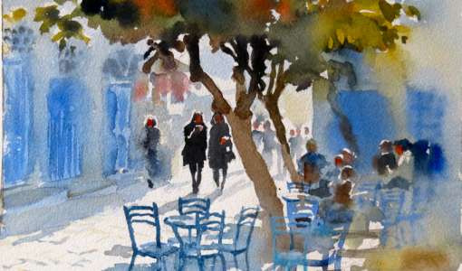 Painting on the Greek Island of Hydra with Hazel Soan