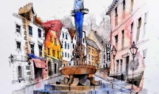 Urban Sketching in Bavaria & Salzburg