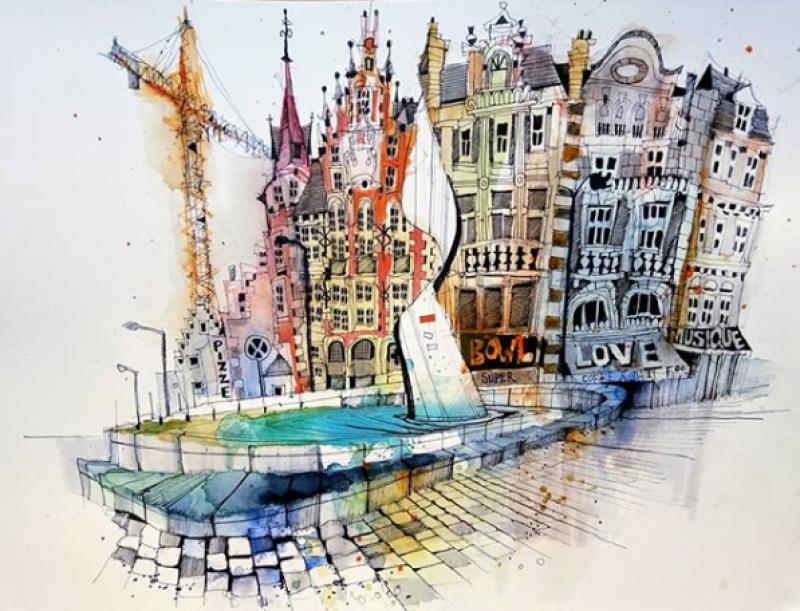 Urban Sketching in Vienna