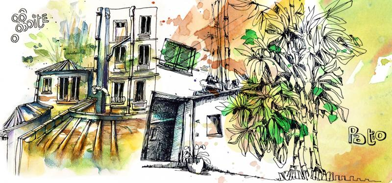 Urban Sketching in Paris