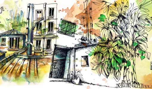 Urban Sketching in Paris