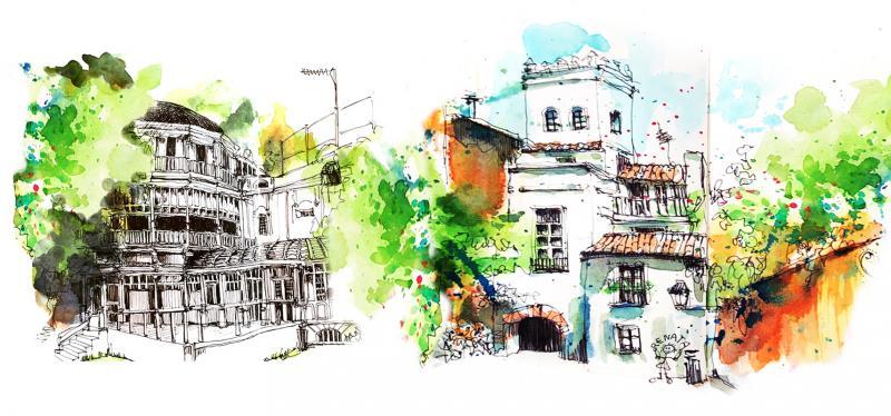 Urban Sketching in Seville