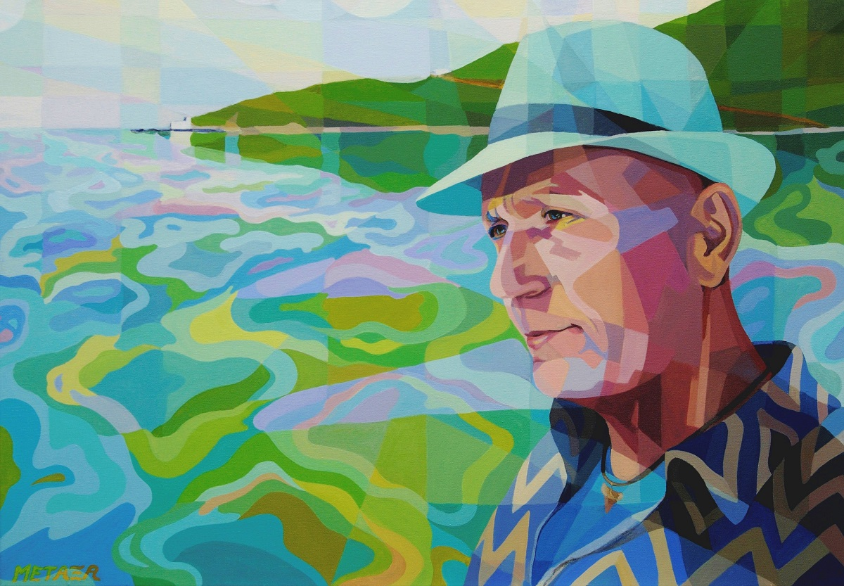 2 Portrait of D. Batistatos-The sea in his soul acrylic on canvas 70x100cm 2.jpg